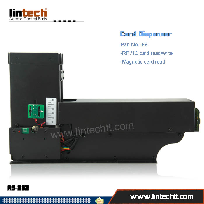 F6 Magnetic card dispenser with reader writer