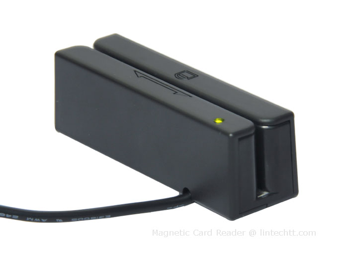 Magnetic Card Reader: Intelligent Light and Buzzer Built-in, RS232 on