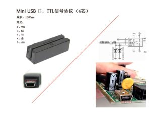 With TTL Protocol Mini USB MSR